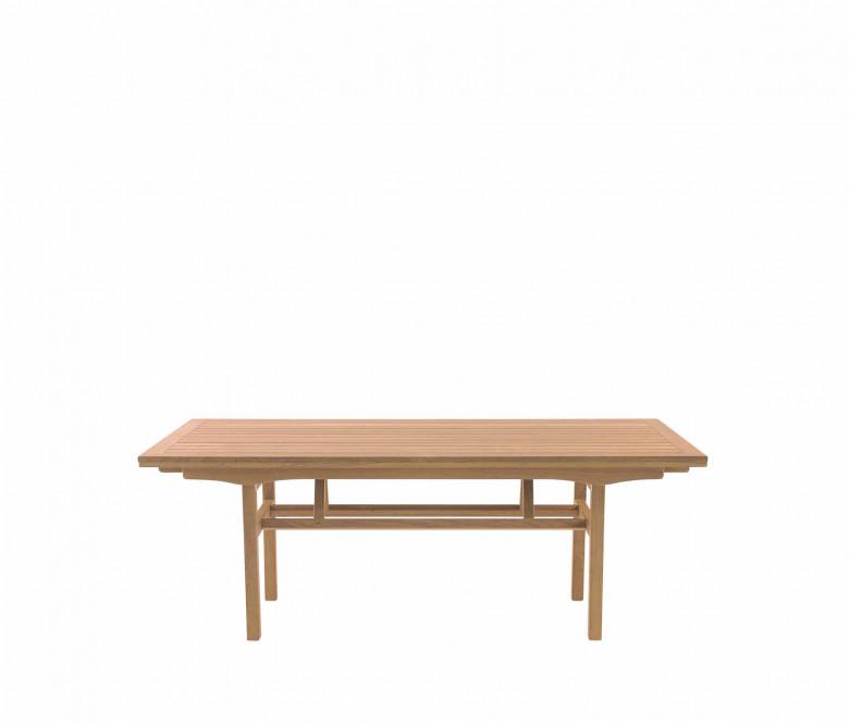 Teck tavolo pieghevole allungabile