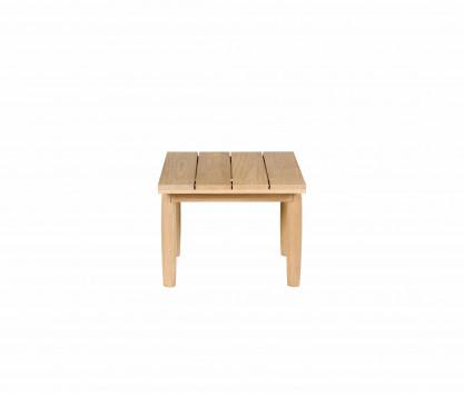 Teck tavolo basso quadrato
