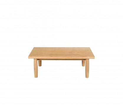 Teck tavolo basso rettangolare