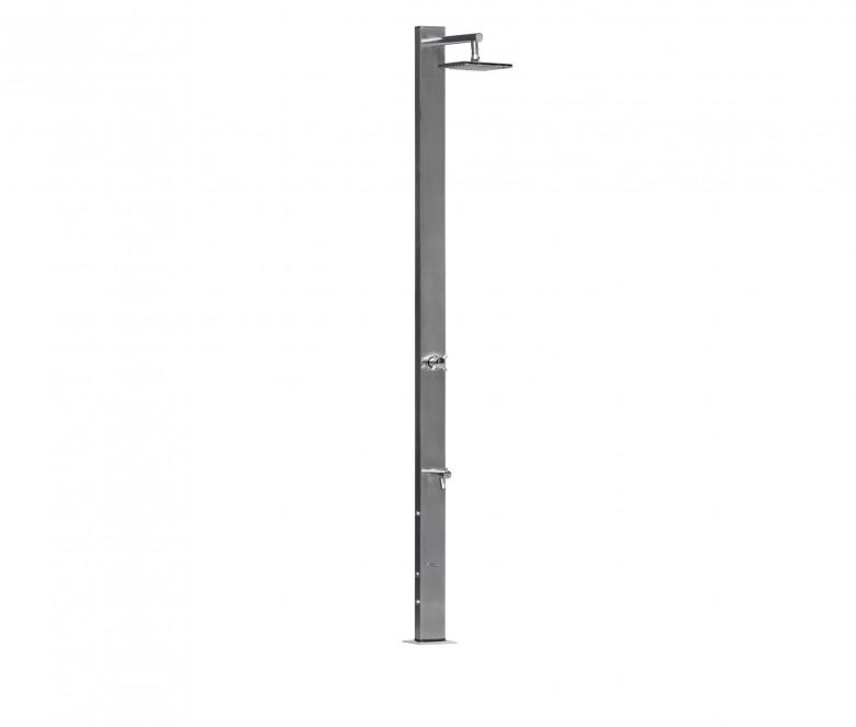 Doccia con miscelatore + soffione doccia quadrato Ø 20 cm