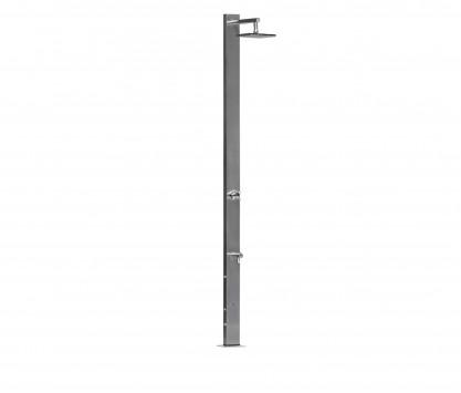 Doccia con miscelatore + soffione doccia quadrato Ø 25 cm