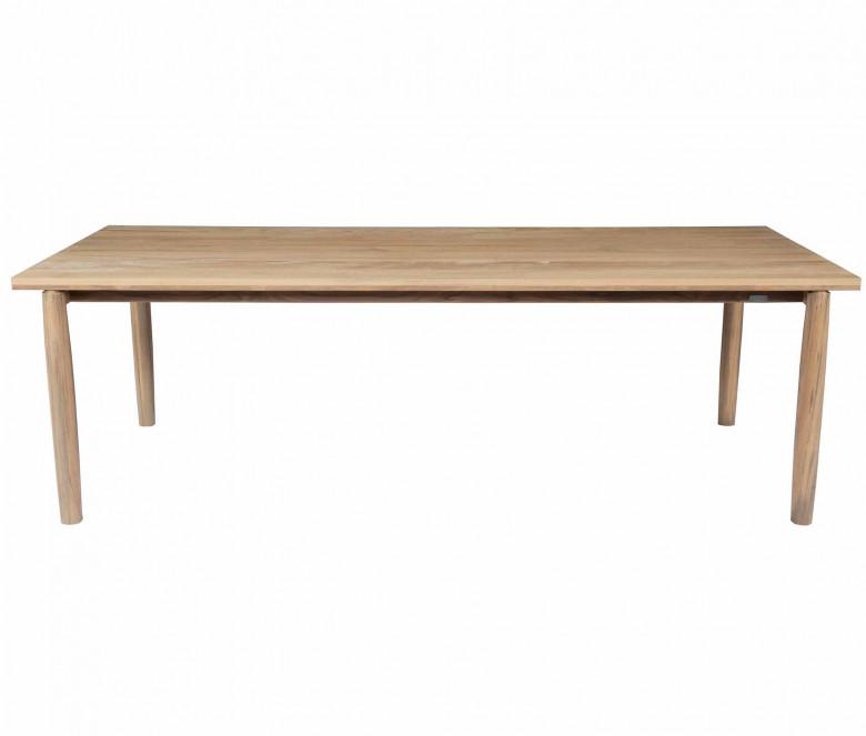 Teck tavolo rettangolare