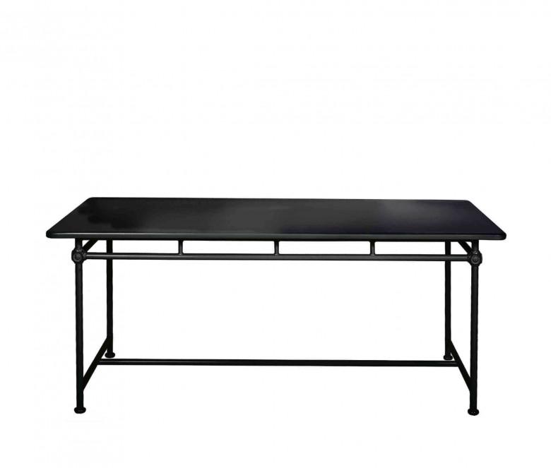 Tavolo rettangolare in aluminio 180 x 90 cm - BLACK