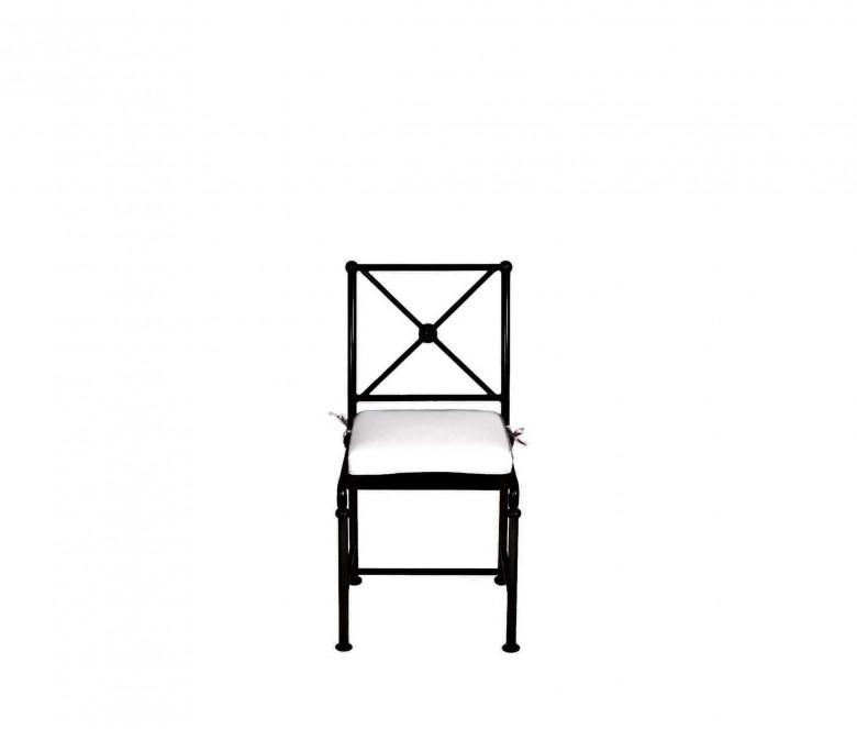 Sedia in aluminio - NERO